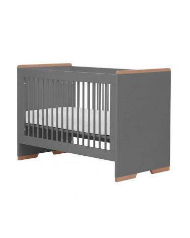 Lit bébé noir 120x60 collection Snap