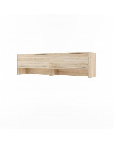Rangement chêne pour lit escamotable