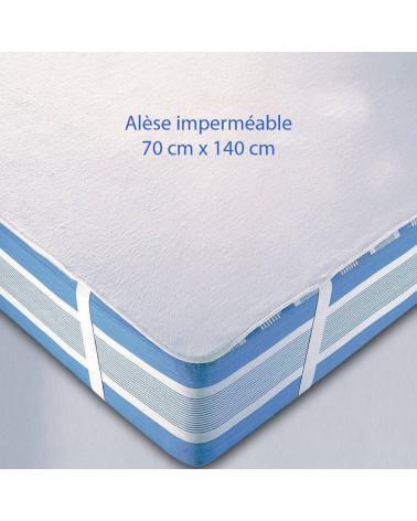 Alèse imperméable 140 x 70 pour lit bébé ou enfant
