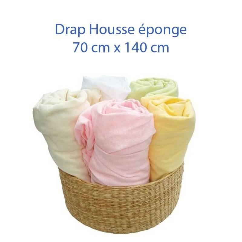 Drap Housse 140 x 70 pour lit bébé et enfant disponible en 6 couleurs