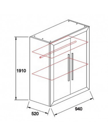 Schéma de l'armoire Terra deux Portes