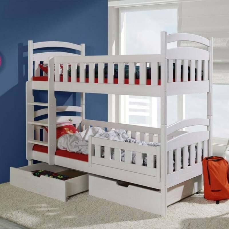 lit enfant superpos domi de couleur blanc. Black Bedroom Furniture Sets. Home Design Ideas