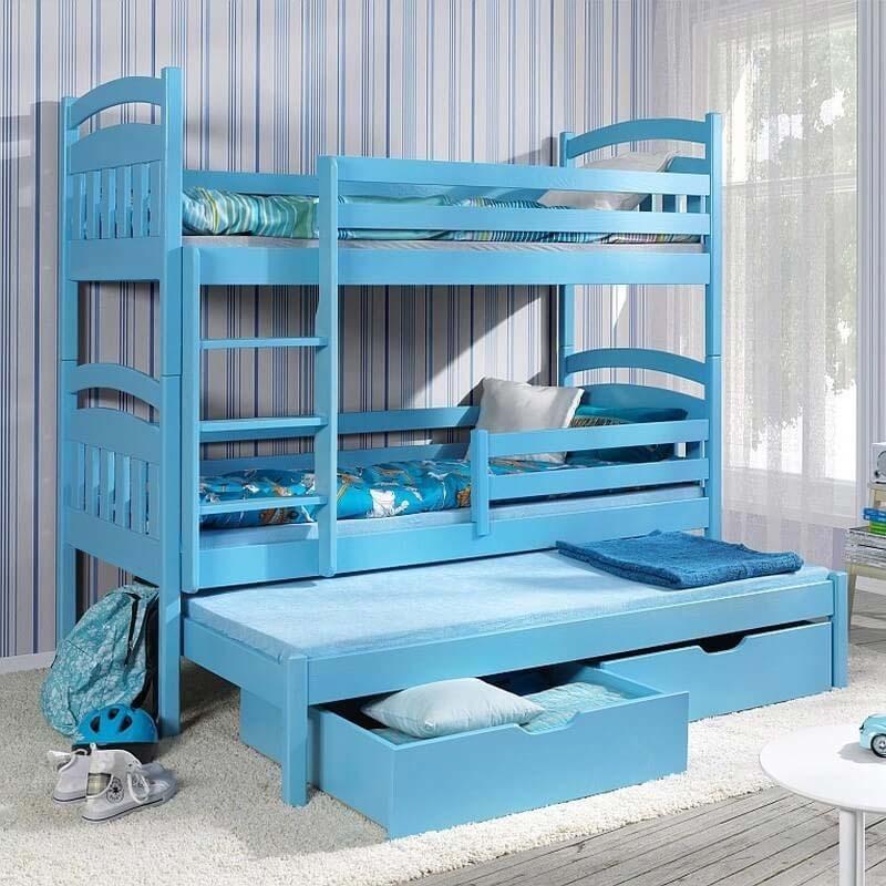 lit enfant superpos jack iii avec lit gigogne 3 couchages. Black Bedroom Furniture Sets. Home Design Ideas