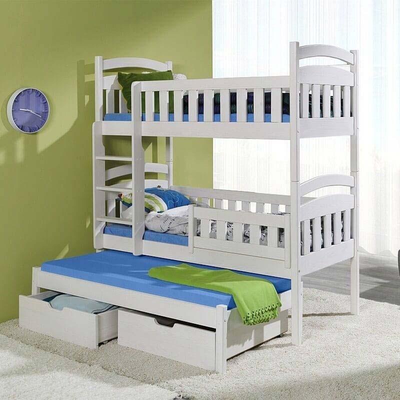 Lit enfant superposé Domi III avec lit gigogne - 3 couchages