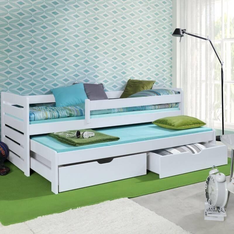 lit gigogne blanc thomas ii. Black Bedroom Furniture Sets. Home Design Ideas
