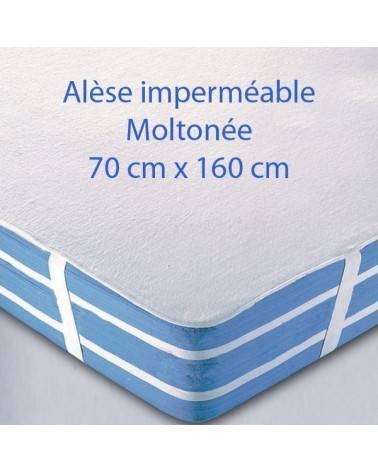 Alèse imperméable Molletonnée 160 x 70 cm pour lit junior
