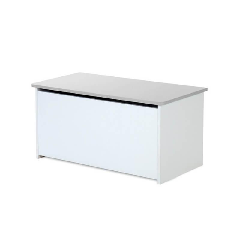 coffre jouets dalia blanc et gris. Black Bedroom Furniture Sets. Home Design Ideas