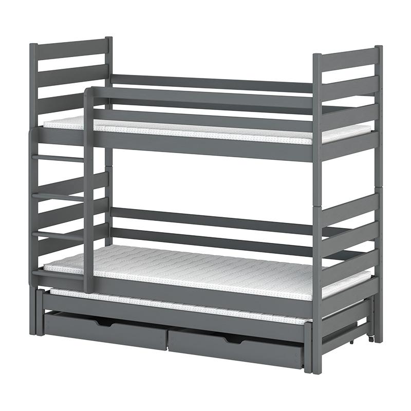lit superpos tomi 3 couchages disponible en 4 couleurs. Black Bedroom Furniture Sets. Home Design Ideas