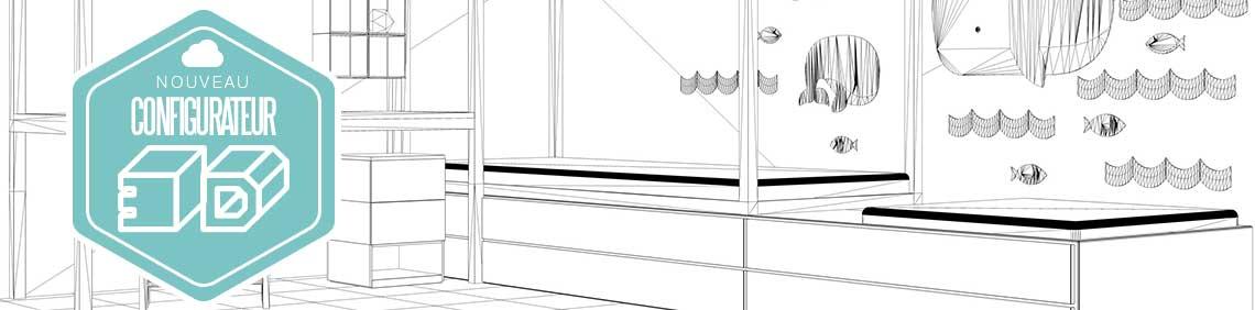 visuel configurateur de mobilier en 3D