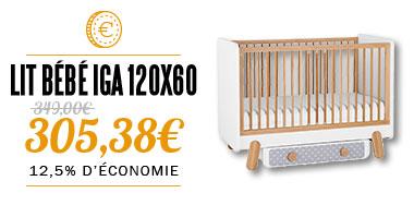 lit bébé 120x60 collection IGA